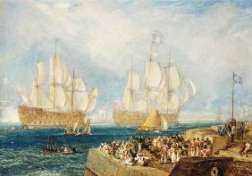 William Turner - Plymouth Harbour: Towing In