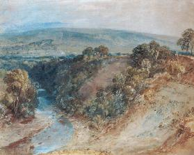 Valley of the Washburn, 1818 (w/c and gouache on paper) 1910