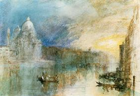 William Turner - Venice: Grand Canal with Santa Maria della Salute