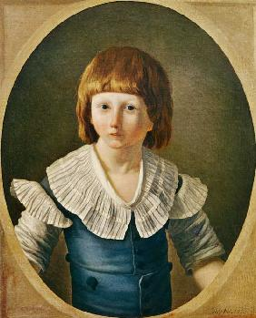 Louis XVII (1785-95) aged 8, at the Temple 1793