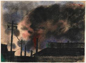 Pittsburgh Factory Scene 1915