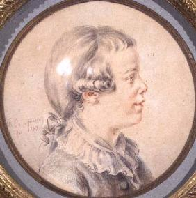 Portrait of a boy, said to be Mozart's son 1787
