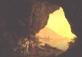 A Grotto in the Kingdom of Naples, with Banditti exh. 1778