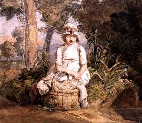 Seated Girl with Bonnet