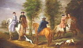 Family Hunting Party 1756