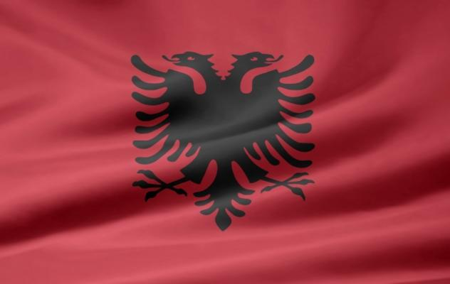 Bild:  Juergen Priewe - Albanische Flagge