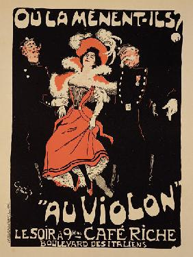 Reproduction of a poster advertising the 'Cafe Riche', Boulevard des Italiens 1897