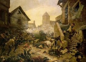 Combat at Cholet, or The Suicide of General Moulin in 1794