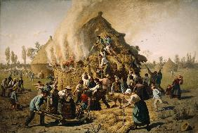 Fire in a Haystack 1856