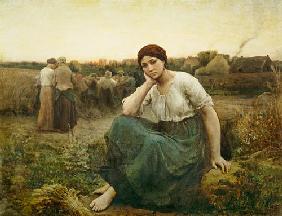 Kunstdruck von Jules Breton - Evening