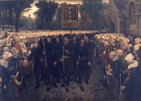 Kunstdruck von Jules Breton - Prozession