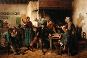 Kunstdruck von Jules Breton - Wine Shop Monday
