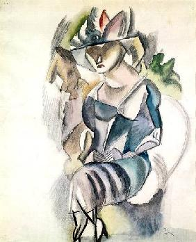 Seated woman 1917  and