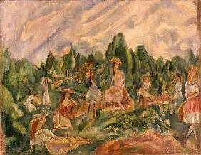 Young Women in a Landscape c.1920