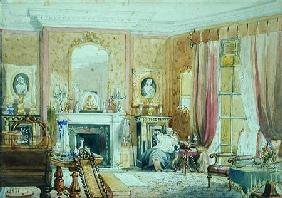 Drawing Room at Bryn Glas, Monmouthshire 1871  on