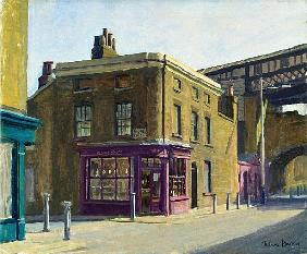 Baker''s Shop, Cornwell Road (oil on canvas)