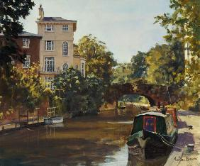 Regent''s Park Canal (oil on canvas)