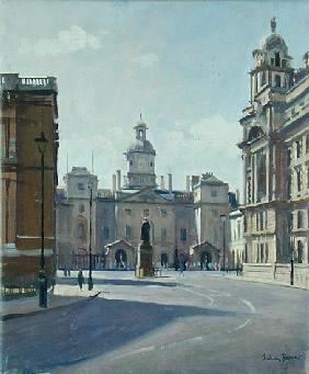 Horseguards from Whitehall (oil on canvas)