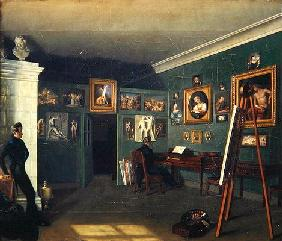 The Painter's Studio, 1830 (oil on canvas)