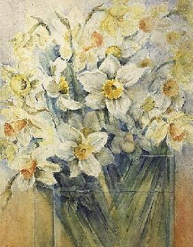 Mixed Daffodils in a Tank, 1989