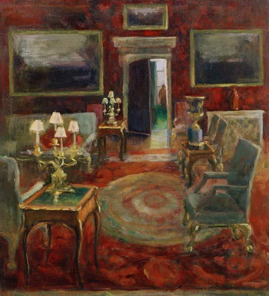 The Red Salon (oil on canvas)