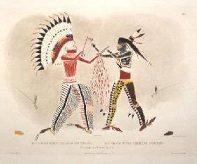 Facsimile of an Indian Painting, plate 22 from volume 2 of `Travels in the Interior of North America 1844
