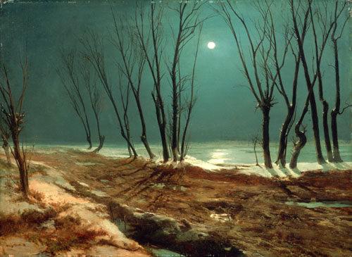 Landschaft im winter bei mondschein karl eduard ferdinand blechen