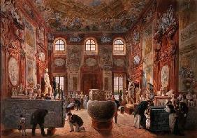 The Marble Room with Egyptian, Greek and Roman Antiquities of the Ambraser Gallery in the Lower Belv 1876