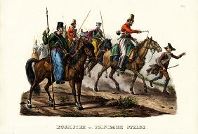 Russian And Polish Horses 1824