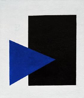 Malevich / Black Square, Blue Triangle