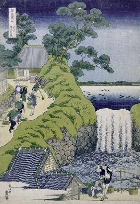 Kunstdruck von Katsushika Hokusai - Aoigaoka Waterfall in the Eastern Capital