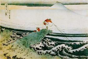 Kunstdruck von Katsushika Hokusai - Kajikazawa In Kai Province