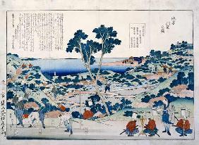 Kunstdruck von Katsushika Hokusai - Ordnance Survey Of Countryside