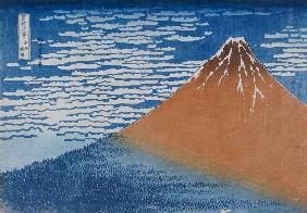 Kunstdruck von Katsushika Hokusai - Fine Wind, Clear Weather