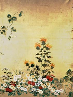 Kunstdruck von Katsushika Hokusai - Flowers of the Seasons