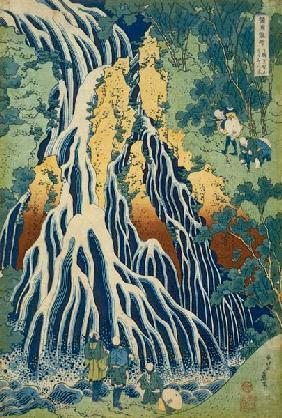 Kunstdruck von Katsushika Hokusai - The Kirifuri Waterfall At Mt