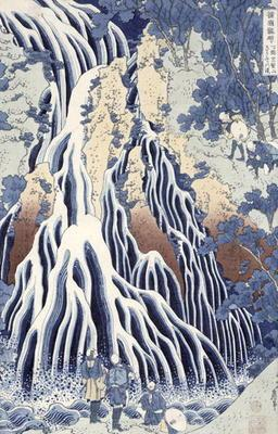 Kirifuri Fall on Kurokami Mount, from the series 'Shokoku Taki Meguri' (A Journey to the Waterfalls