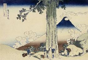 Kunstdruck von Katsushika Hokusai - Mishima Pass In Kai Province