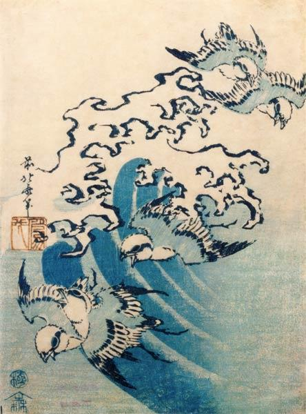 Waves and Birds, c.1825 1825