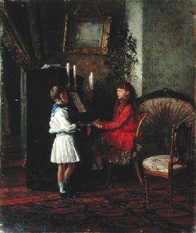 Children at the Piano 1886