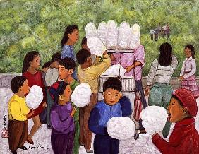 Cotton Candy, 1992 (gouache on silk)