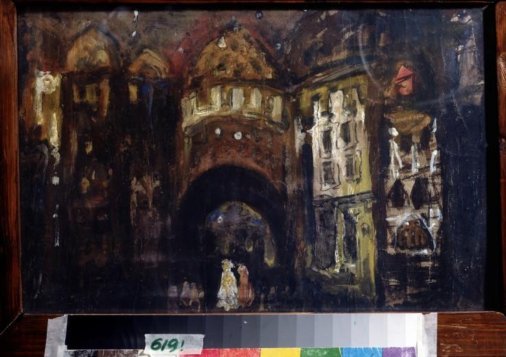B hnenbildentwurf zur oper faust von ch konstantin alexejewitsch korow als kunstdruck oder - Faust wandfarbe ...