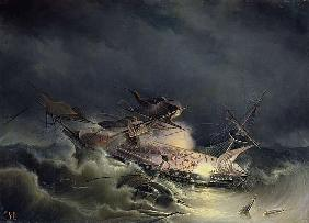 The disaster of the Liner Ingermanland at Shagerrake near Norway on the 30th August 1842