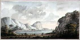 Landscape with two Figures Overlooking a Bay c.1825  on