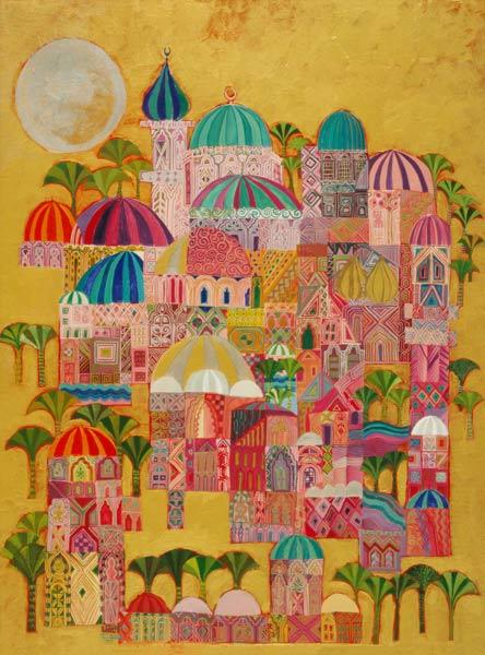 The Golden City, 1993-94 (acrylic on canvas)  1993-94