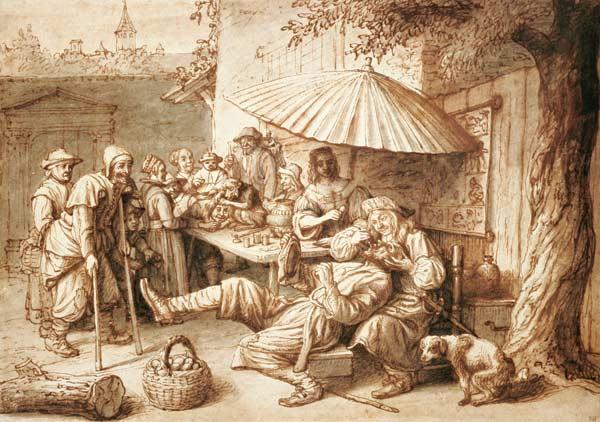 The Dentist (pen & ink and wash on paper) 1856