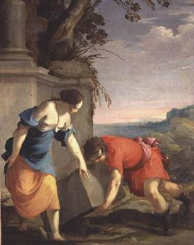 Theseus Finding his Father's Sword 1634
