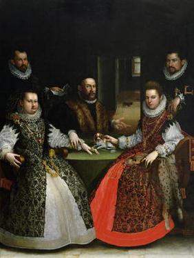 The Gozzadini Family (oil on canvas) 19th