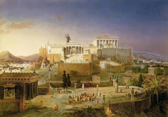 Bild: Leo von Klenze - Die Akropolis von Athen