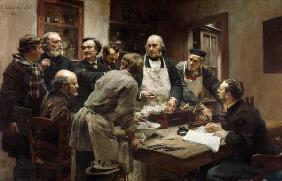 The Lesson of Claude Bernard (1813-78) or, Session at the Vivisection Laboratory 1889